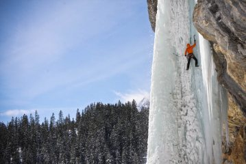 Me on the first ascent of Kraftwerk Wi6-