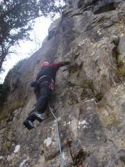 Jayme's first spot climb