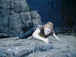 Julia on seawall E1 5b, Souter Head