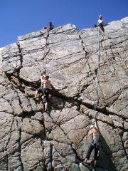 Climbing at Logie Head