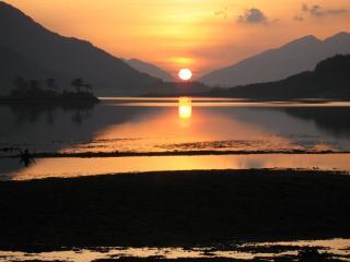 Sunset on Ballachullish bridge