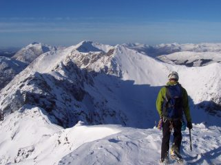 The Aonach Eagach in perfect nick after a long wait