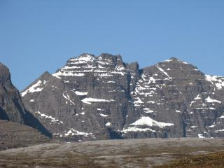 East face of An Teallach, from the Shenevall path