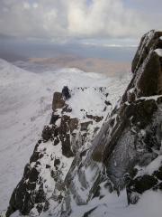 Dennis Ayre on the north ridge of Askival,Rum.