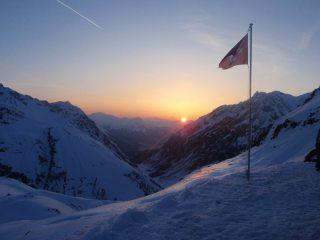 sunset from the silvretta hut