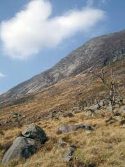 The approach in to Beinn Trilleachan (Etive Slabs)