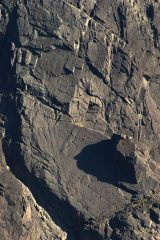Sron na Ciche. Climbers on Arrow Route and Integrity