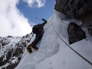 The final steep bit on Tower Scoop