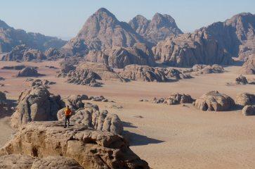 endless sandstone: the view from Jebel Burdah, Wadi Rum, Jordan