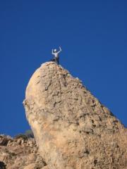 Paul stands proud atop Nightstalker