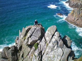 Jim on Commando Ridge.  Very windy.