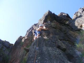 Me climbing People will talk