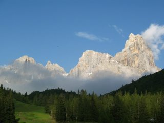Evening light on Cimon Della Pala