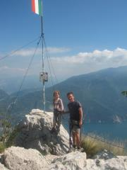 The Summit of Cima Sat at the end of the Via dell Amicizia.
