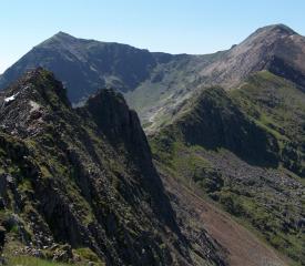 Snowdon Horsehoe from East end of Crib Goch Ridge