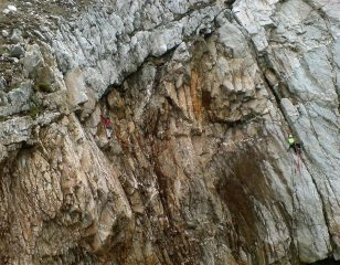 me on P4, Paul Cookson belaying
