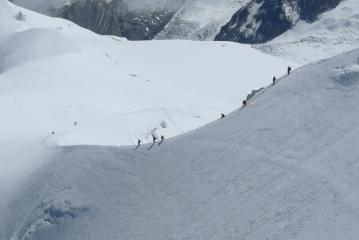 Descent from Aig du Midi