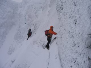 Eastern Traverse - photo taken by following climbers NiallK and Drew Connelly