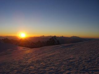 Sunrise view from Mt. Blanc