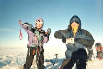 Summit Mt Blanc - with fortified wine and plum loaf!