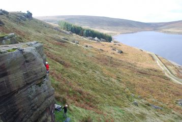 Chris getting into the final crack on Celebrity Buttress