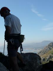 Simon Roping up at La Crevata