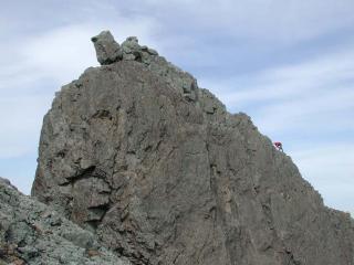 Moving along the ridge