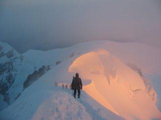 Descending the Blanc