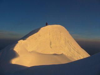 Serac on Mont Blanc descent