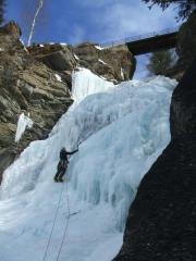 My first real ice route, Cogne