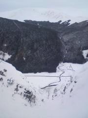 Broken Cleugh, mirkside, Moffat, 300m or so of grade 3ish