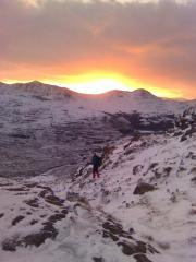 Descending Liathach New Years Day