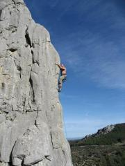 Excellent arete climbing, Villanueva del Rosario