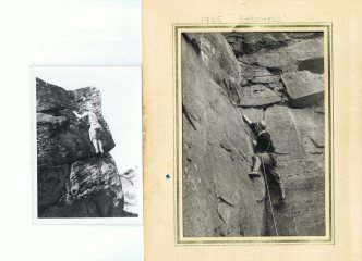 early climbing at Almscliff and Ravenscar