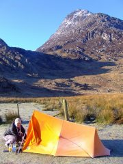 Tryfan and tent