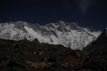 Lhotse at night