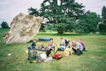 Compton Verney Boulder - Family picnic