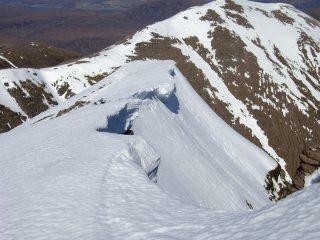 An Teallach. Cornices on the north ridge of Bidein a Ghlas Thuill.