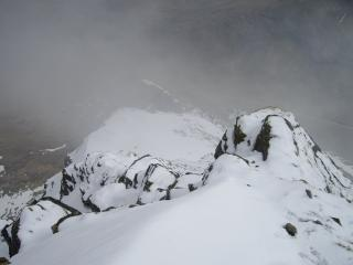 A view back down the East ridge