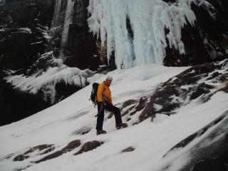 Ed at the CIC ice fall
