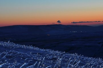 Descending from Pen-y-Fan to the Storey Arms at dusk, Brecon Beacons