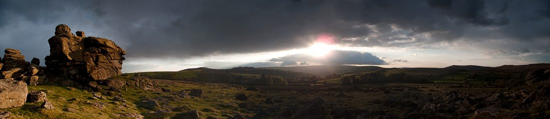 Sunset from Hound Tor
