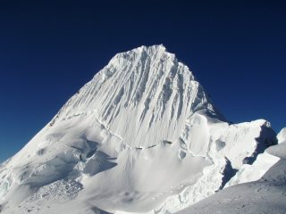Alpamayo from the col