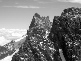 View ti Le Meije from Le Rateau summit