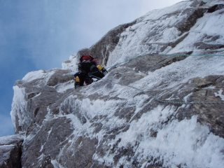 Penultimate pitch Central Buttress