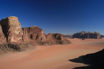View South from the summit of Jebel Ahmar Al Shelaali, Wadi Rum