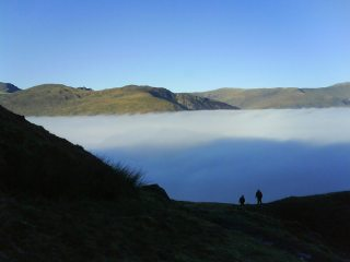 descending in to the cloud