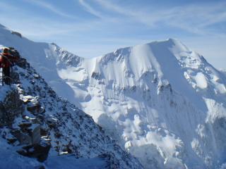 Aiguille de bionnassay from the Gouter hut