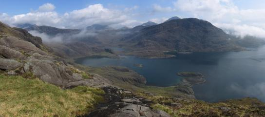the view from our campsite overlooking scavaig