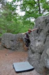 Adam (aged 8) making a rapid descent at Canche